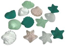Lot OF 11 ART GLASS DECORATIVE SEA SHELLS VINTAGE - $71.99