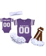 Personalized Baltimore  Ravens Girls Custom Jersey Uniform Onesie  - $27.95+