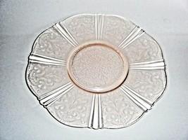 American Sweetheart Pink Salver Cake Serving Plate Macbeth Evans - $14.80