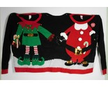 CHRISTMAS Holiday Time Santa Elf Jingle Bell Double Ugly Sweater Size S/M - New