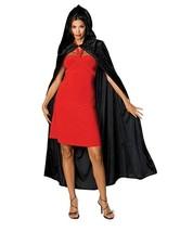 Deluxe Cloak Hooded Velvet Cape Adult Medieval Costume Halloween Fancy D... - $18.69