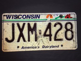 Vintage Wisconsin License Plate 1993 19876 Car Auto - $11.05