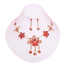 Bridal Jewelry Beautiful Dress Accessories Wedding Necklace and Earrings Set