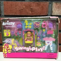 Vtg Barbie Baby Sister Krissy Swing and Play 54217 NEW in Damaged Box - $91.92