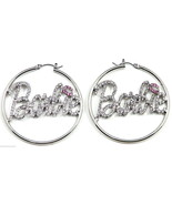 New Crystal Rhinestones Hoop Earrings Barbie Style - $14.99+