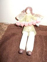 NWT ANGEL HOLDING HEARTS SITS SHELF FIGURINE LOVE IS GREATEST GIFT WE CA... - $7.69