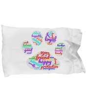 Funny Dog paw word cloud pillow case - $9.75