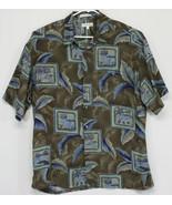 Pierre Cardin- Men's XL Button Up Hawaiian Shirt Palm Trees, Ocean (E10) - $13.10