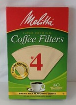 Melitta Cone Coffee Filters Natural Brown No 4 40-Count Filters  ** Seal... - $4.99