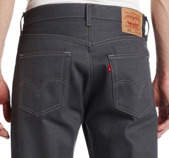 NEW LEVI'S 501 MEN'S ORIGINAL FIT STRAIGHT LEG JEANS BUTTON FLY GRAY 501-0985