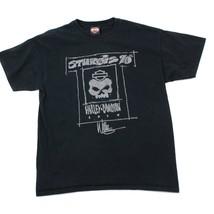 Harley Davidson Camiseta Sturgis 70th Negro de Manga Corta Dos Caras Motero - $22.99