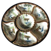 Japanese Fujita Kutani Hand Painted Porcelain Lazy Susan - $64.00