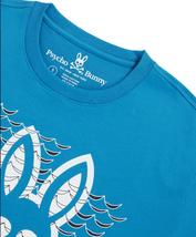 Men's Psycho Bunny Short Sleeve Newbold Graphic Tee Logo Electric Teal T-Shirt image 4