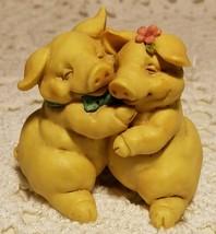 "Pigsville 1992 Handcrafted Pig Figurine by Ganz ""True Love"" #1310 with L... - $9.89"