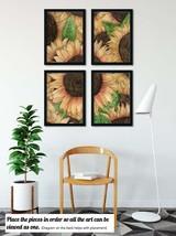 4 Pieces Sunflowers Watercolor Art Prints, Set of 4 Botanical Art Prints... - $25.00