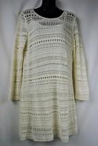 H&M Ivory Long Sleeve Crochet Dress Size Large - $12.88