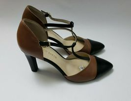 Franco Sarto Shoes Heels Brown Black T-Strap Tanda Womens Size 8.5 M image 6
