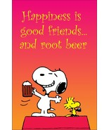 """Snoopy And Woodstock """"Happiness Is Good Friends And Root Beer"""" Stand-Up ... - $15.99"""