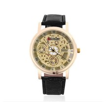 Casual Men's Watch Quartz Watch Leather Strap Wristwatch AD3