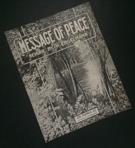 Message Of Peace Sheet Music Reverie By H Engelmann Artsy Cover Collectible - $9.89