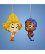 Bubble Guppies-Deema & Goby-Set of 2 Bubble Guppies Ornaments-Holiday! - $14.79