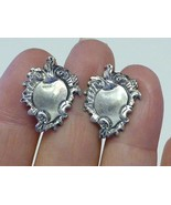 Retro Luggage Tag Sterling SILVER Earrings Engraveable Screwback - $19.99