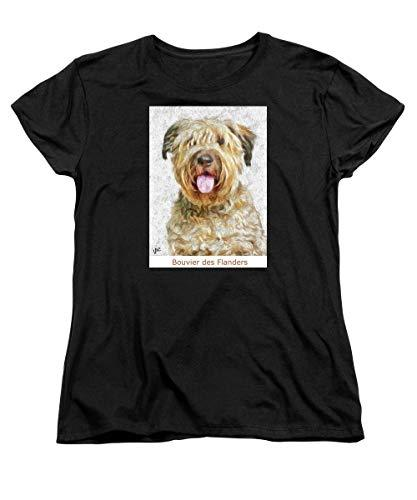 Primary image for Pieter - Bouvier Des Flanders - Women's T-Shirt (Standard Fit) - Black / 2XLarge