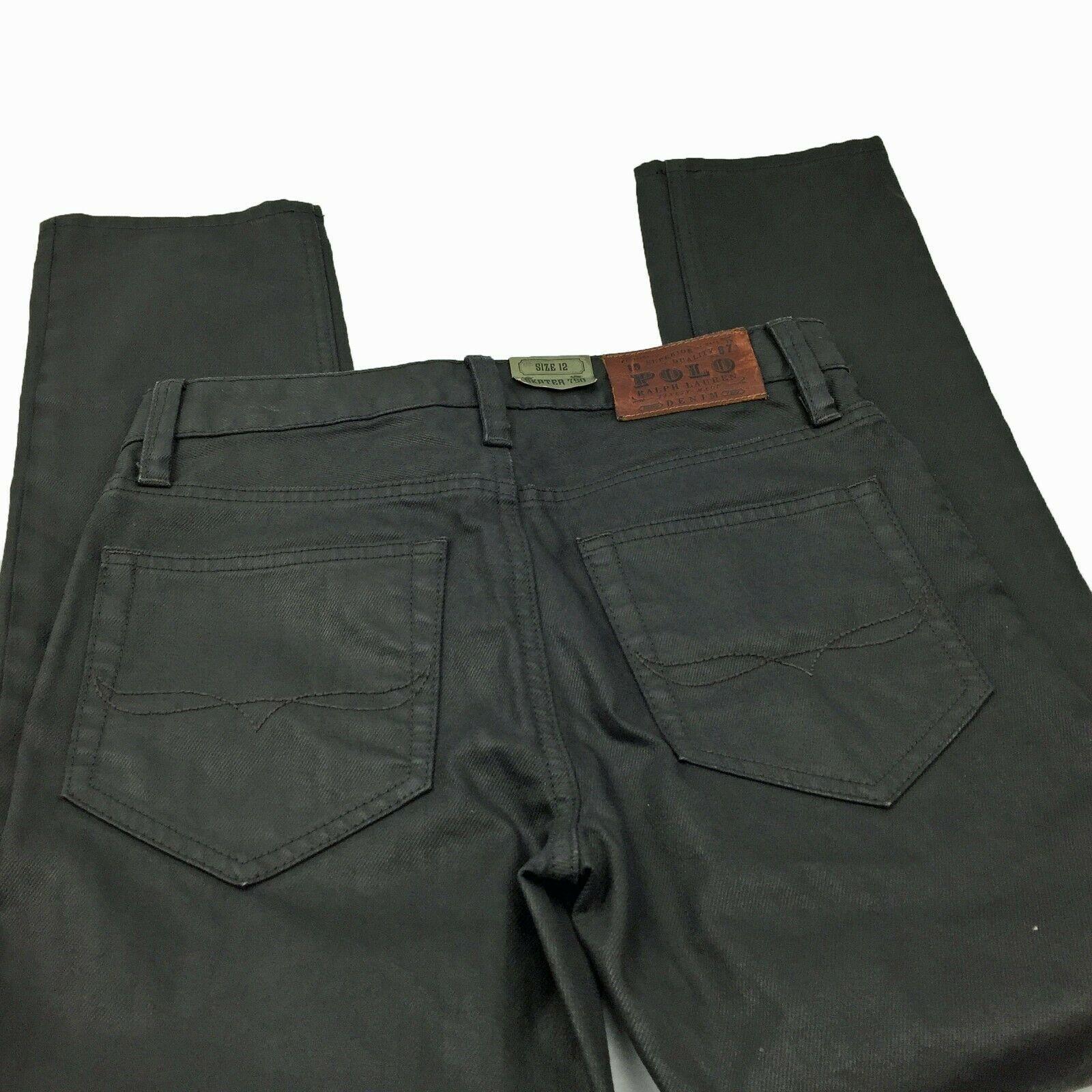 Boys POLO RALPH LAUREN Skater 750 Black Skinny Leg Jeans Size 12 **NWOT image 5