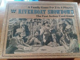 Vintage Riverboat Showdown The Fast Action Card Game Whitman 1976 Complete - $8.91