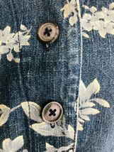 DENIM & CO Women's Jacket Blue Jean Floral Rose Flower Graphics Size Small $75 image 8