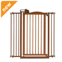 Richell Tall One-Touch Gate Ii Brown 94930 Pet GATE NEW - $187.98