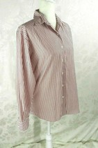Women's Brooks Brothers Shirt Size S Red & White Stripe Long Sleeve All ... - $15.83