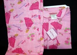 3-Pc Disney Princess Roses & Romance Pink T-Shirt Flannel Pajama Set Gir... - £17.64 GBP