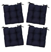 RSH Décor Set of 4 - Indoor/Outdoor Sunbrella Canvas Navy Blue Tufted S... - $223.99
