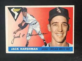 1955 Topps Baseball Card #104 JACK HARSHMAN - White Sox - $4.90