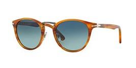 Persol PO3108S Sunglasses-960/S3 Striped Brown/Light Blue Gradient Polarized-49m
