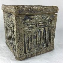 Handmade Studio Pottery Art Geometic Textured B... - $37.51
