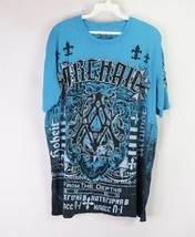Affliction Archaic Mens Large Spell Out Short Sleeve Graphic T Shirt Lig... - $30.64