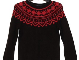 Chaps by Ralph Lauren Black Red Scoopneck Dolman Long Sleeve Sweater XS Small 2 - $49.98