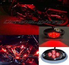 OCTANE LIGHTING 1Pc Red Led Chrome Accent Module Motorcycle Chopper Fram... - $4.90