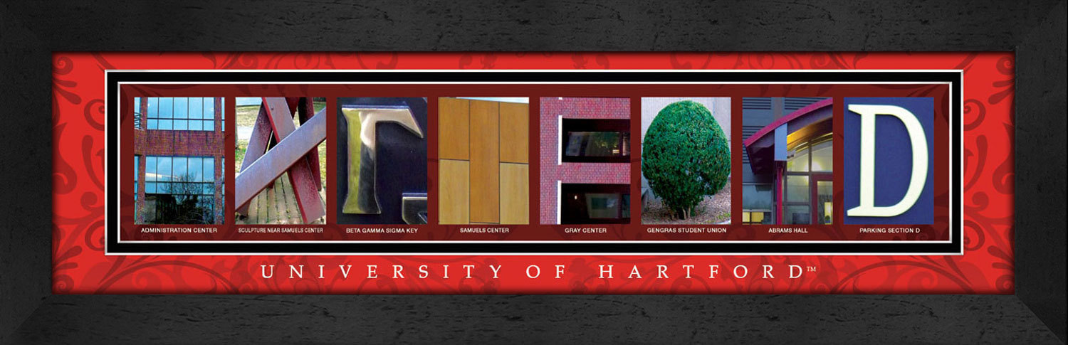 Primary image for University of Hartford Officially Licensed Framed Campus Letter Art