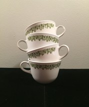 Vintage 70s set of 4 Corelle by Corning Crazy Daisy pattern mugs