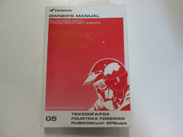 2005 Honda TRX500FA/FGA Fourtrax Foreman Rubicon Owners Manual Factory Used Oem - $38.80