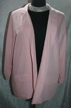 Chicos NWT Soft Blazer 3 XL 16 Sasha Blush Rose Pink New Womens Open Front - $45.20