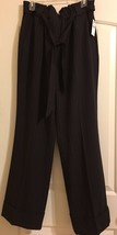 Lane Bryant Trouser Brown Pin Striped Belted Elastic High Waist Faux Cuf... - $14.03