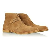 Handmade Mens Tan Color Monk Strap Boots, Men's Chukka Boots, Men Chukka... - $149.99+