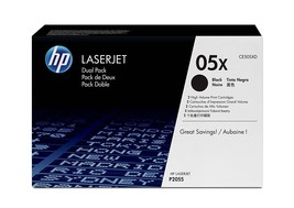Genuine OEM HP CE505XD 05X 2-Pack High Yield Black Original LaserJet Ton... - $325.99