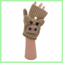 Flip Mittens Deer - Unisex One Size Fits Most - Mittens to Fingerless Gl... - $10.60 CAD