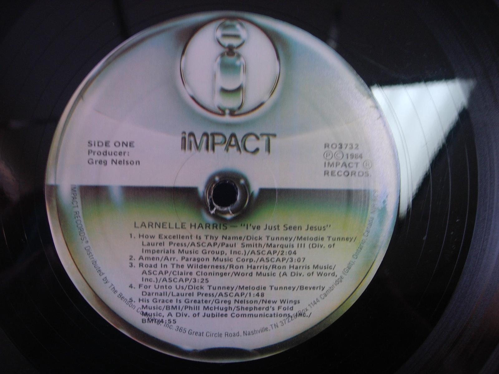 Larnelle Harris - I've Just Seen Jesus - Impact Records RO 3732