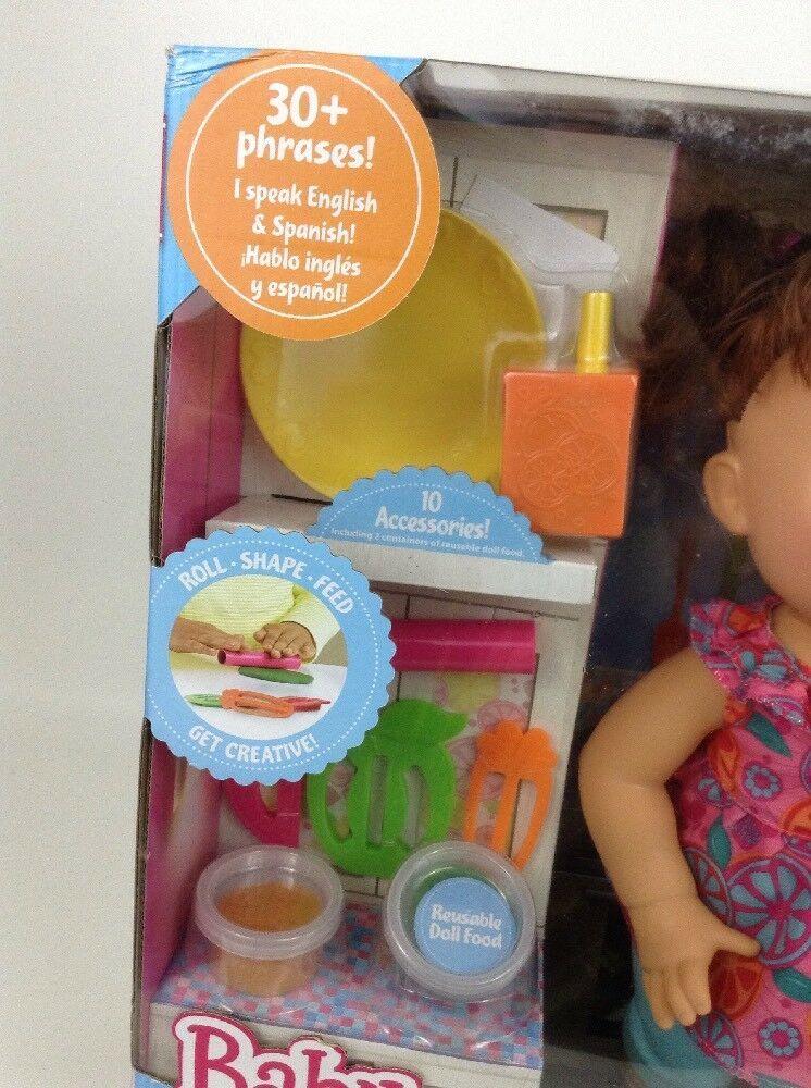 Baby Alive Super Snacks Snackin Sara Brunette Doll Talks Eats Wets 2015 Hasbro image 5
